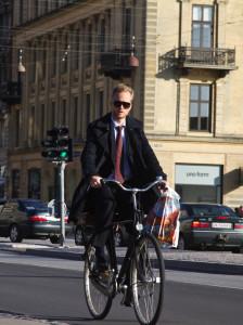 Businessman On Bike photo, courtesy of European Cyclists' Federation
