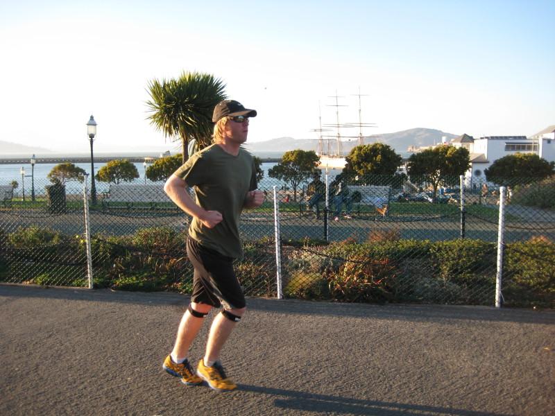Author Greg Lynch jogging in San Francisco