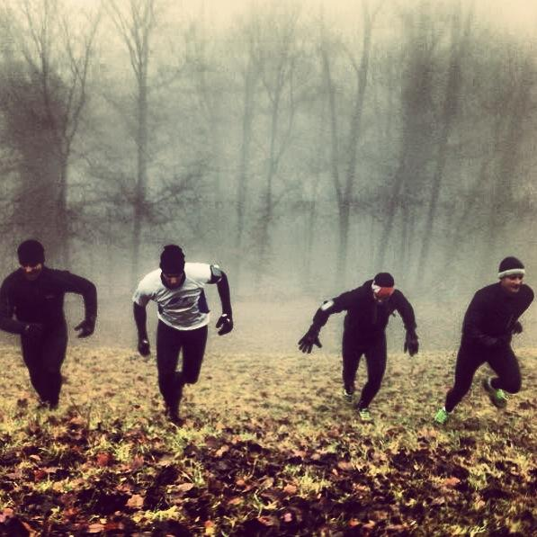 Thorough Preparation: Runtastic Bravehearts doing a hill sprint