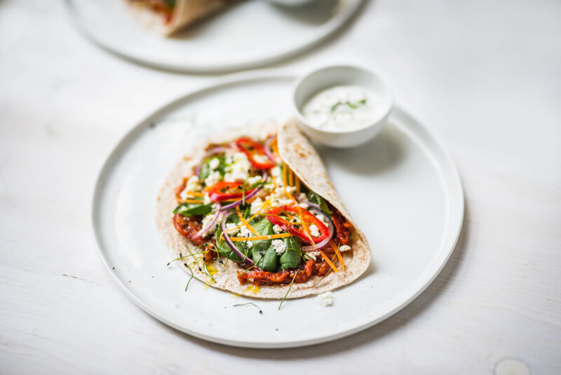 Une tortilla aux petits légumes