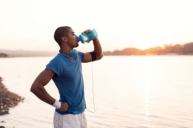 Stay hydrated before race