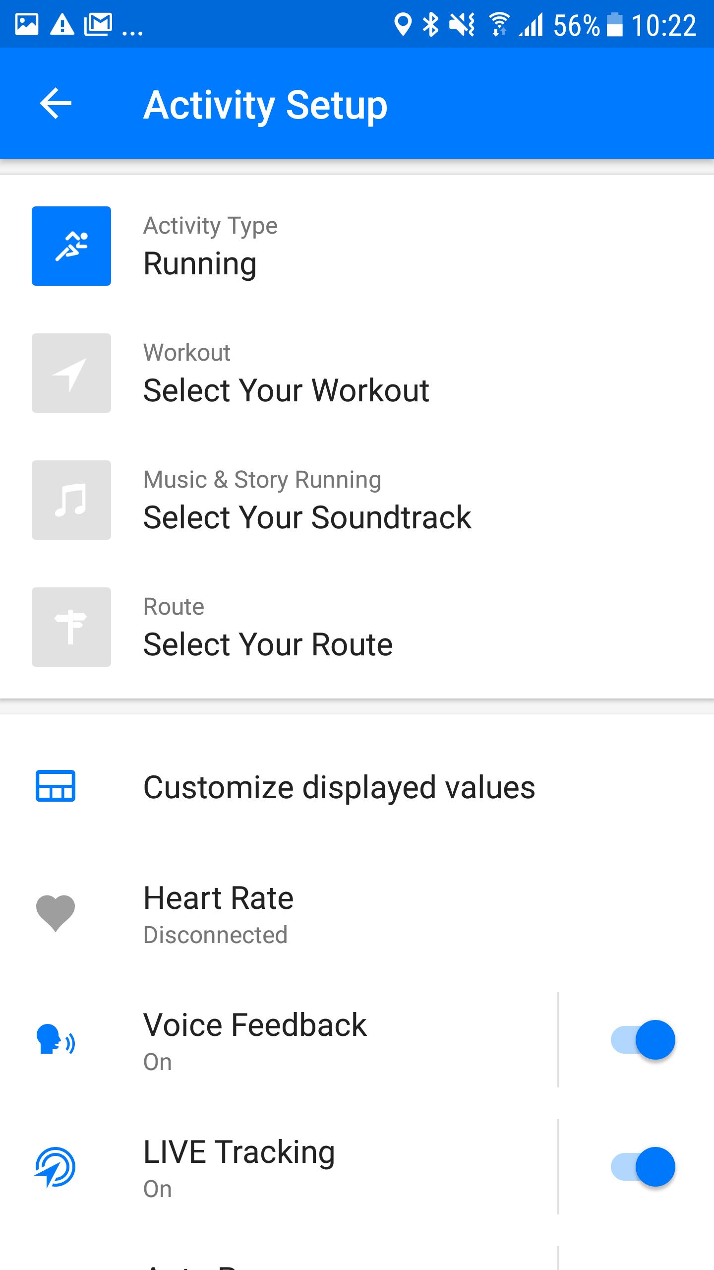 Screenshot Runtastic Live Cheering Android