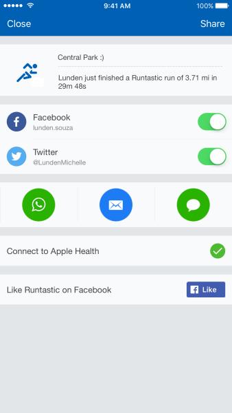 Screenshot Runtastic Pro