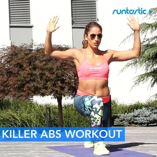 Woman doing a killer abs workout.