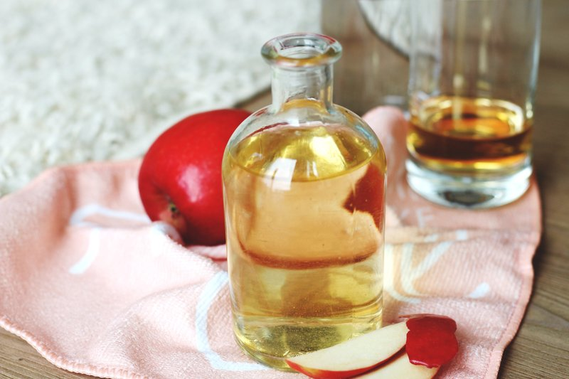 Vinegar rinse for shiny hair.