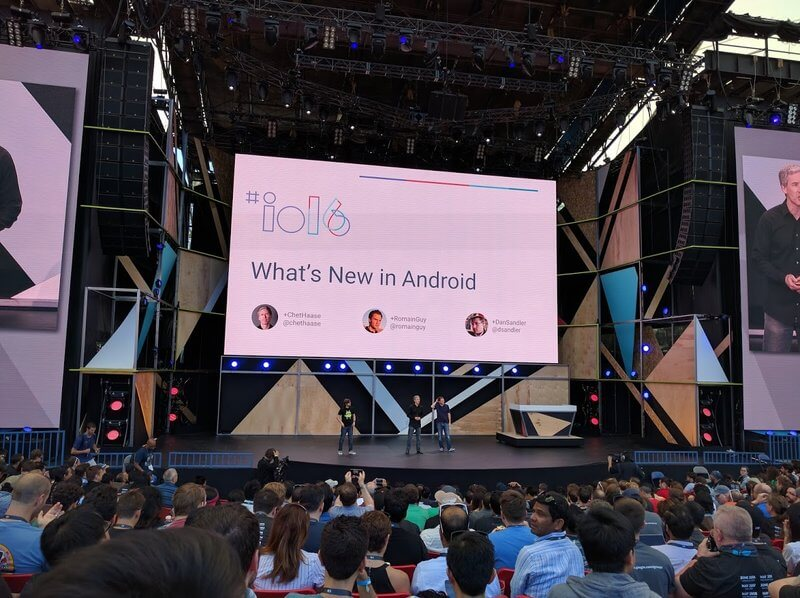 Open air stage of the Google I/O 2016.