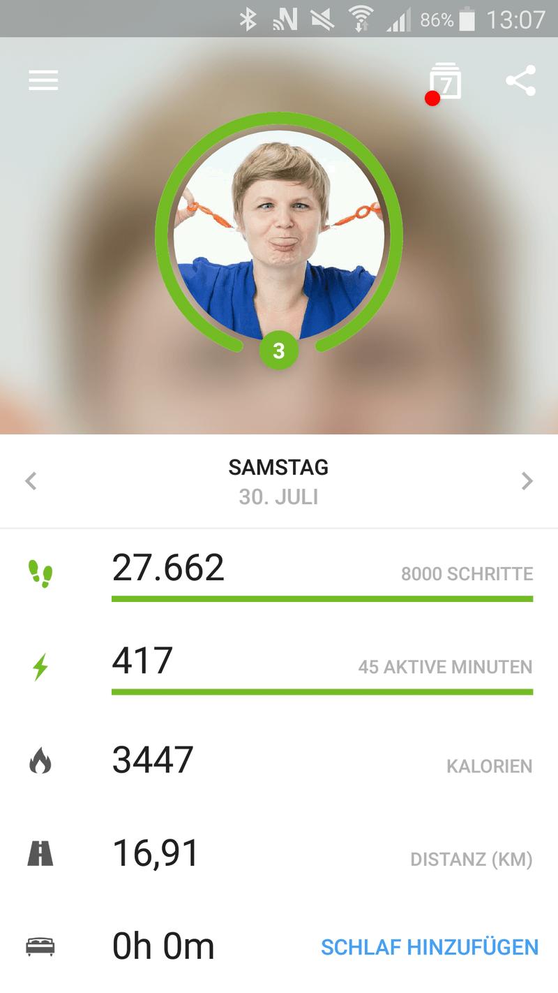 Screenshot von der Me App.