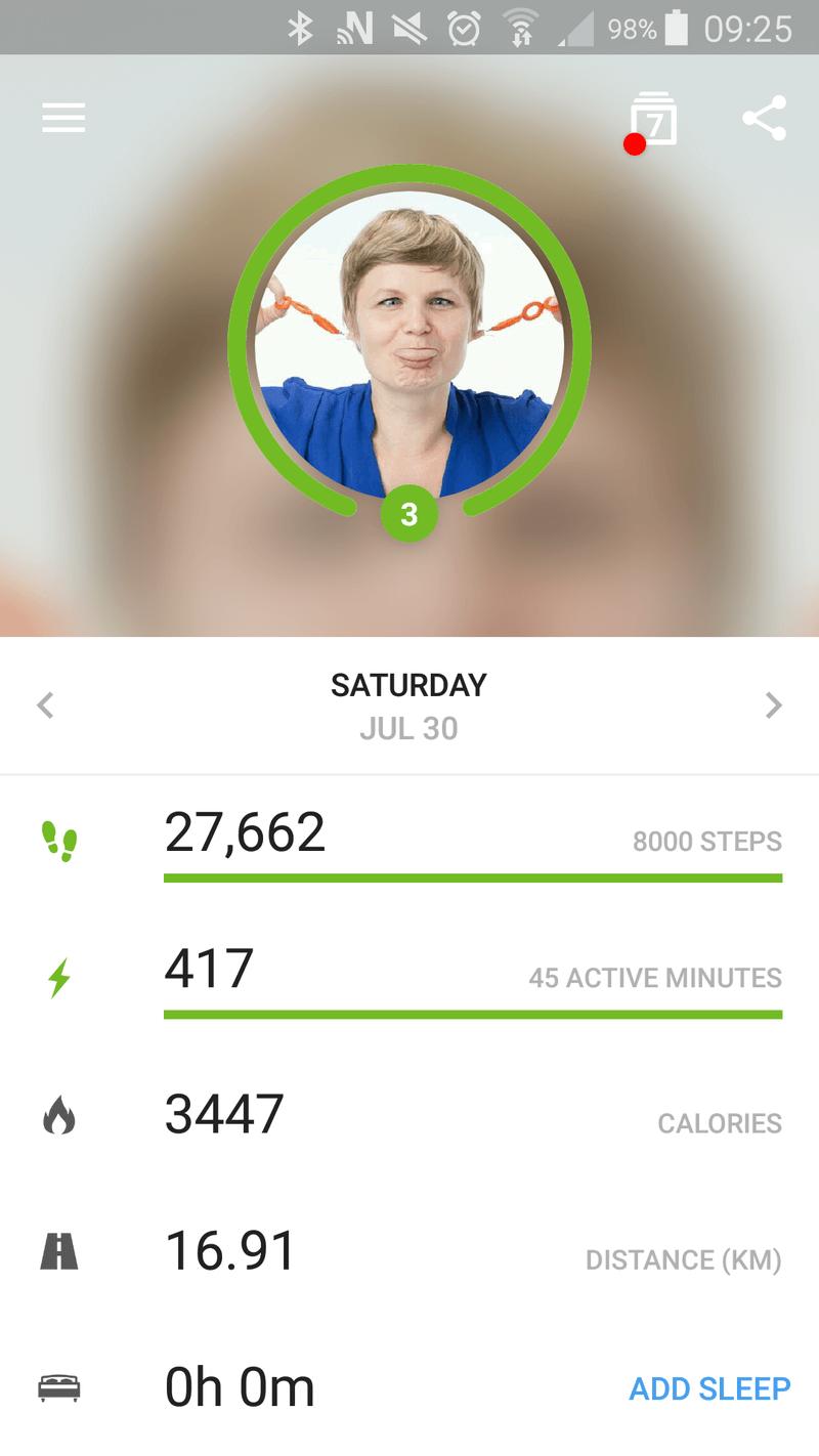 Screenshot of the Me App.