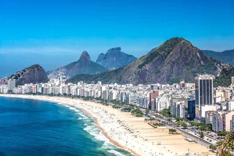 Panoramabild von Rio de Janeiro.