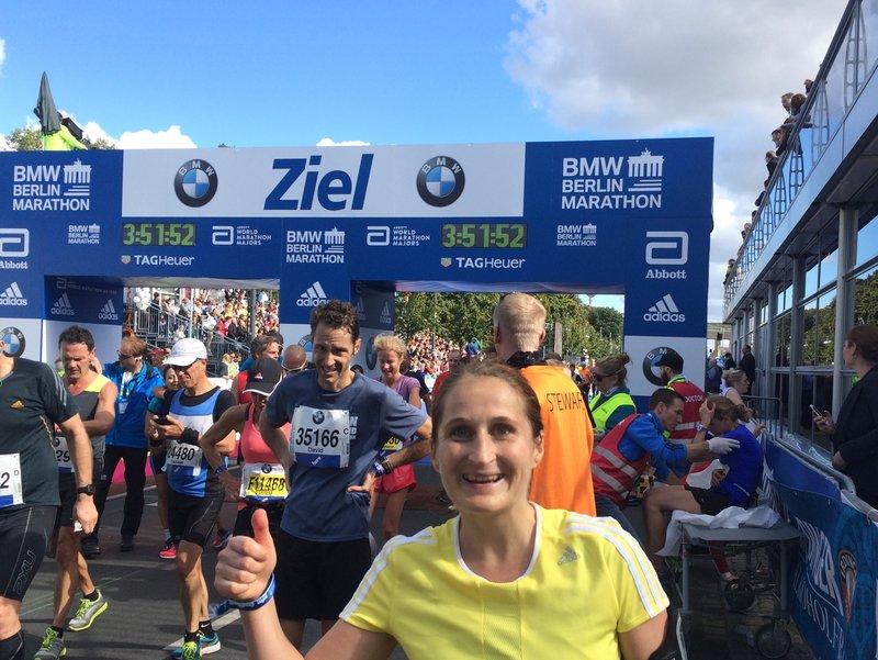 Viktoria Steininger at last years Berlin-Marathon