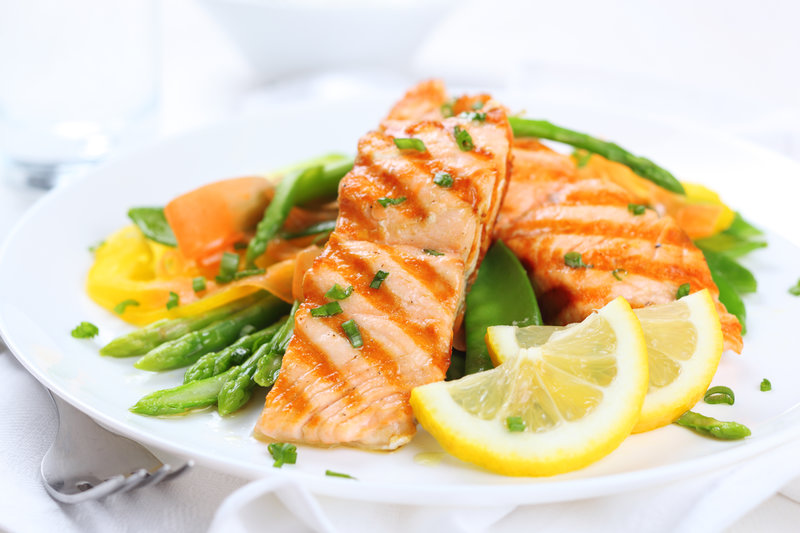 Foods rich in unsaturated fats include fatty fish such as tuna and salmon.