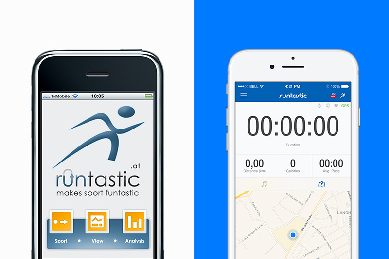 Runtastic app now and then.