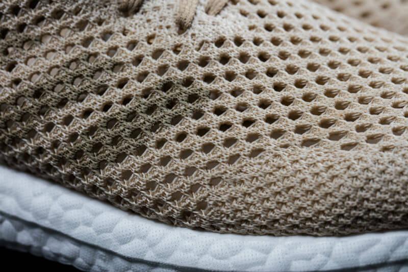 Close up of the adidas Futurecraft Biofabric shoe.