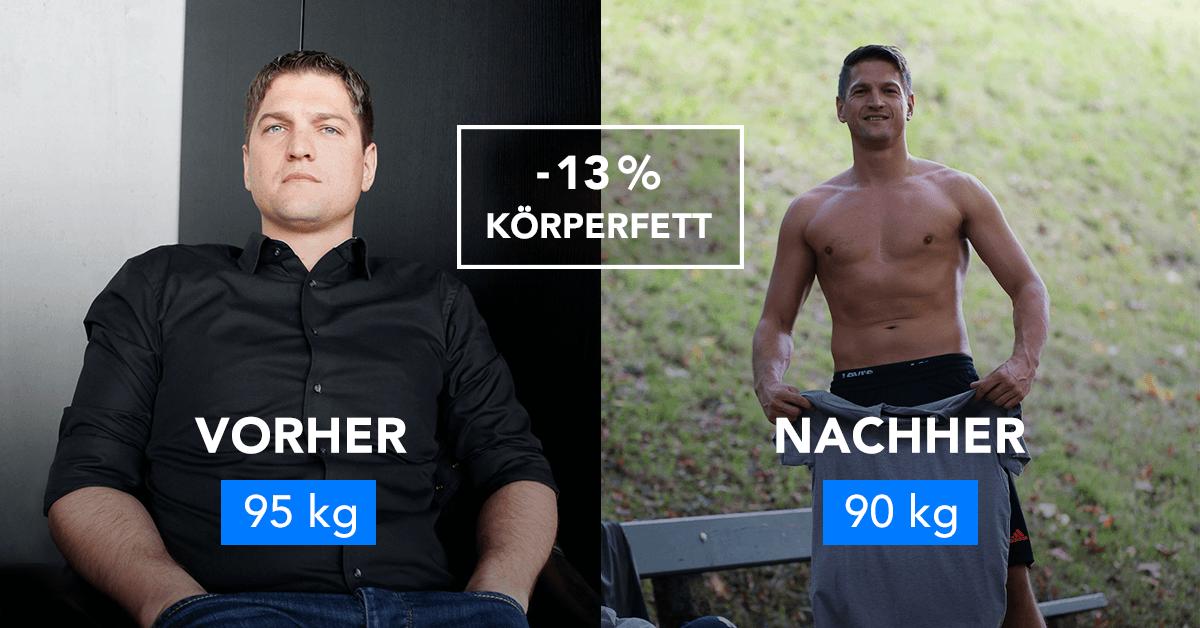 Rainer hat seinen Körper mit Runtastic Results nachhaltig verändert.