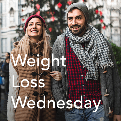 Weight Loss Wednesday graphic christmas shopping.