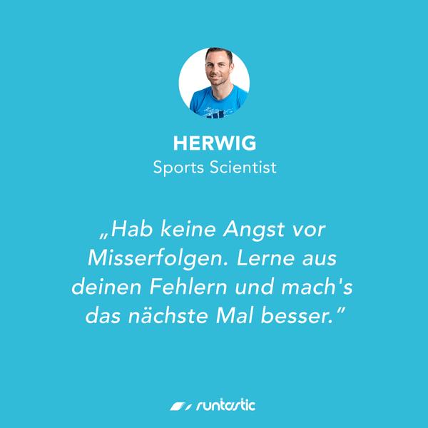 Quote von Runtastic Sportwissenschaftler Herwig.