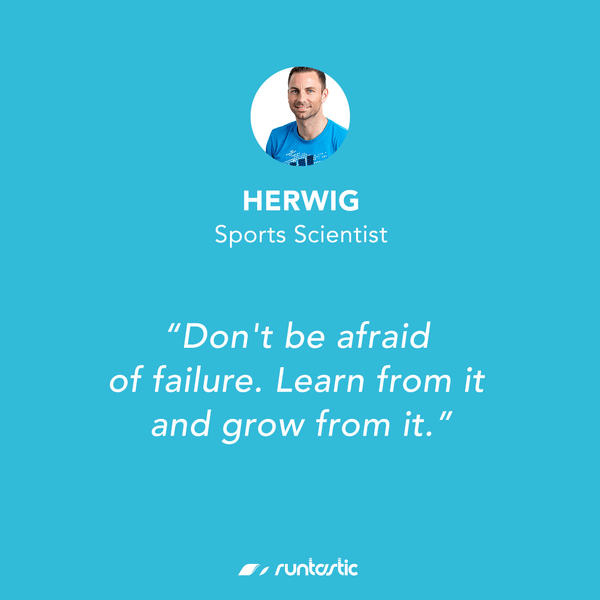 Quote from Runtastic Sports Scientist Herwig