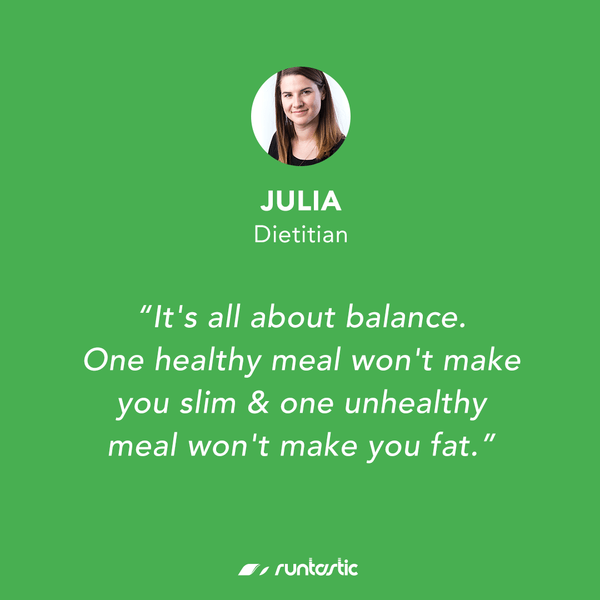 Qoute from Runtastic Dietitian Julia