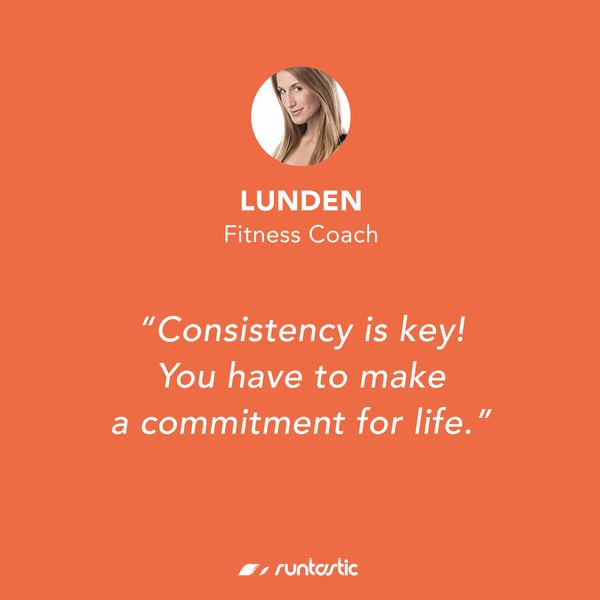 Quote from Runtastic Fitness Coach Lunden