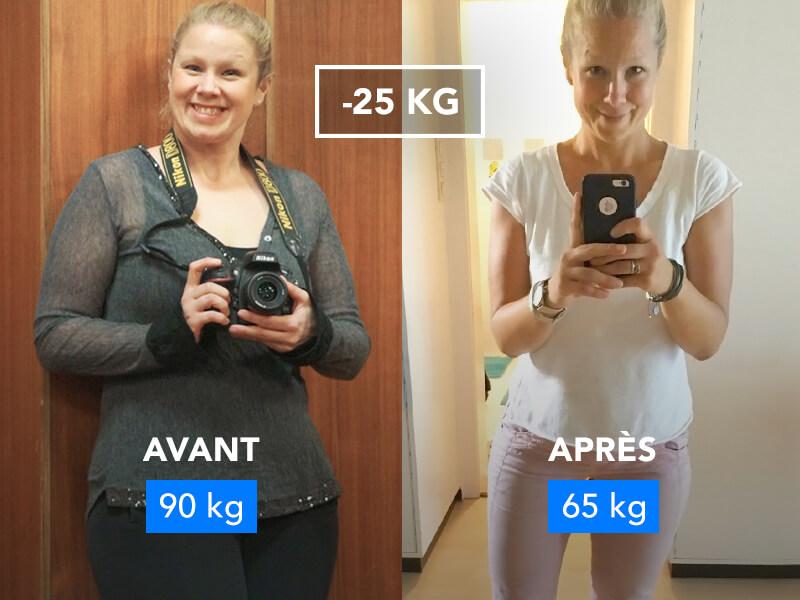 Photo de Barbara avant et après.