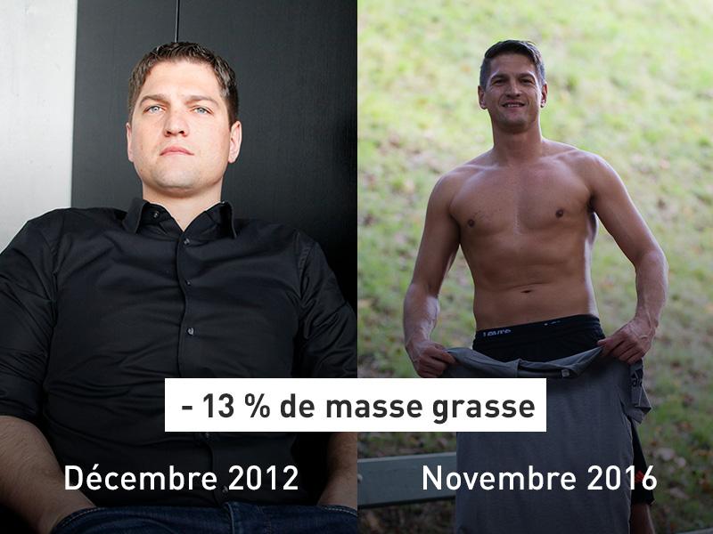 Photo de Rainer avant et après.