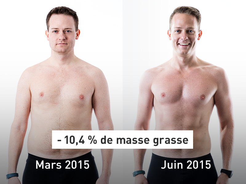 Photo de René avant et après.