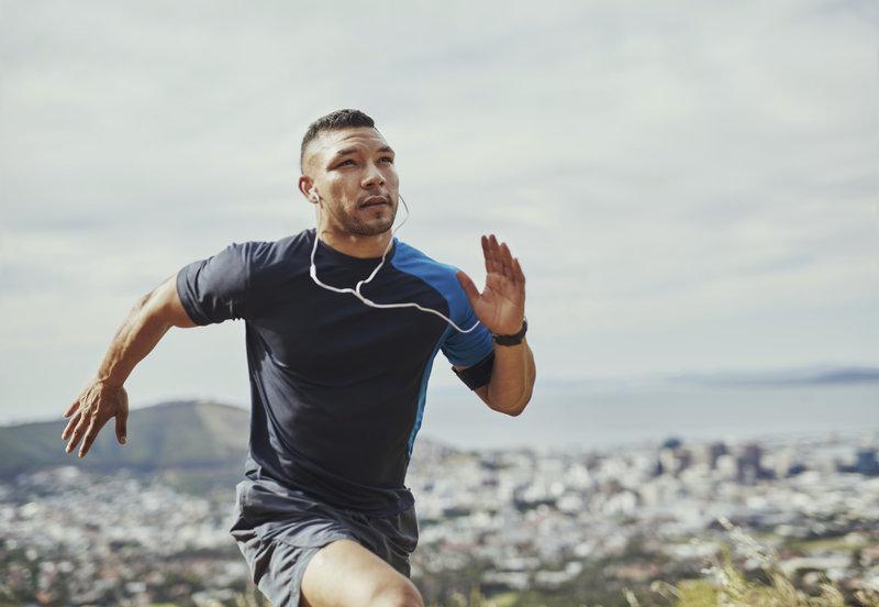 Un homme entrain de courir