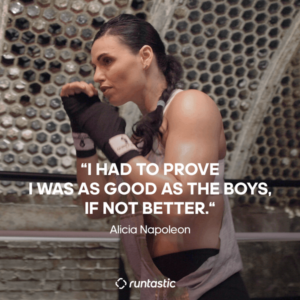 Alicia Napoleon boxing.