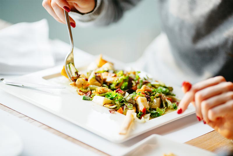 Salade verte au tofu