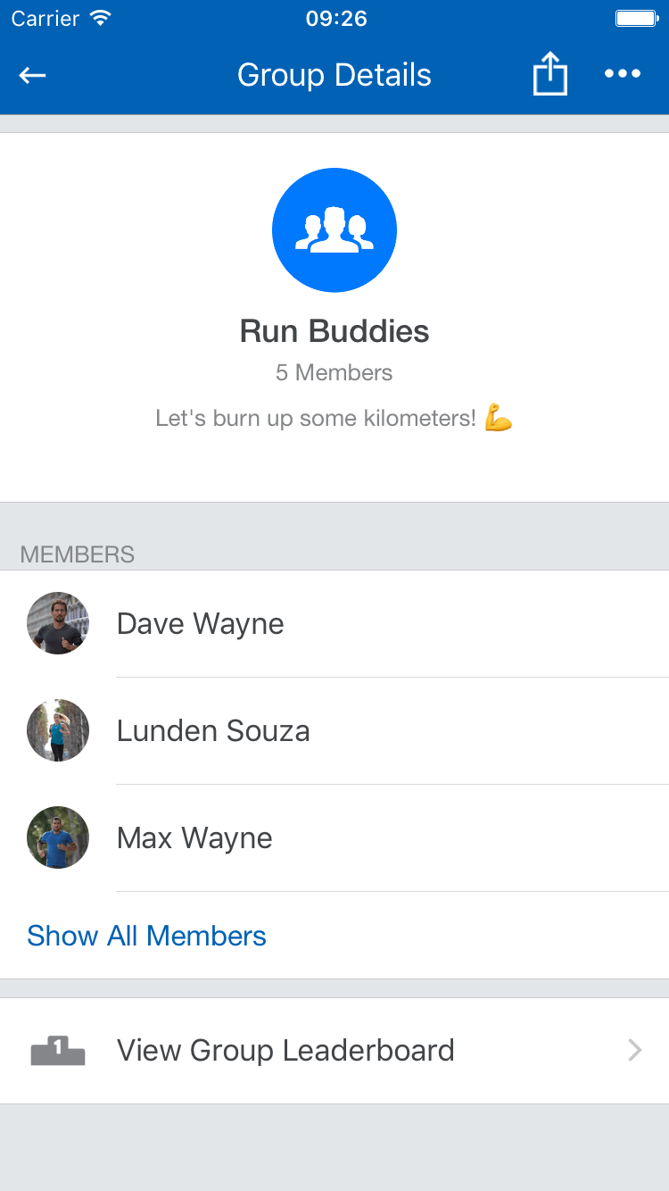 Runtastic Groups