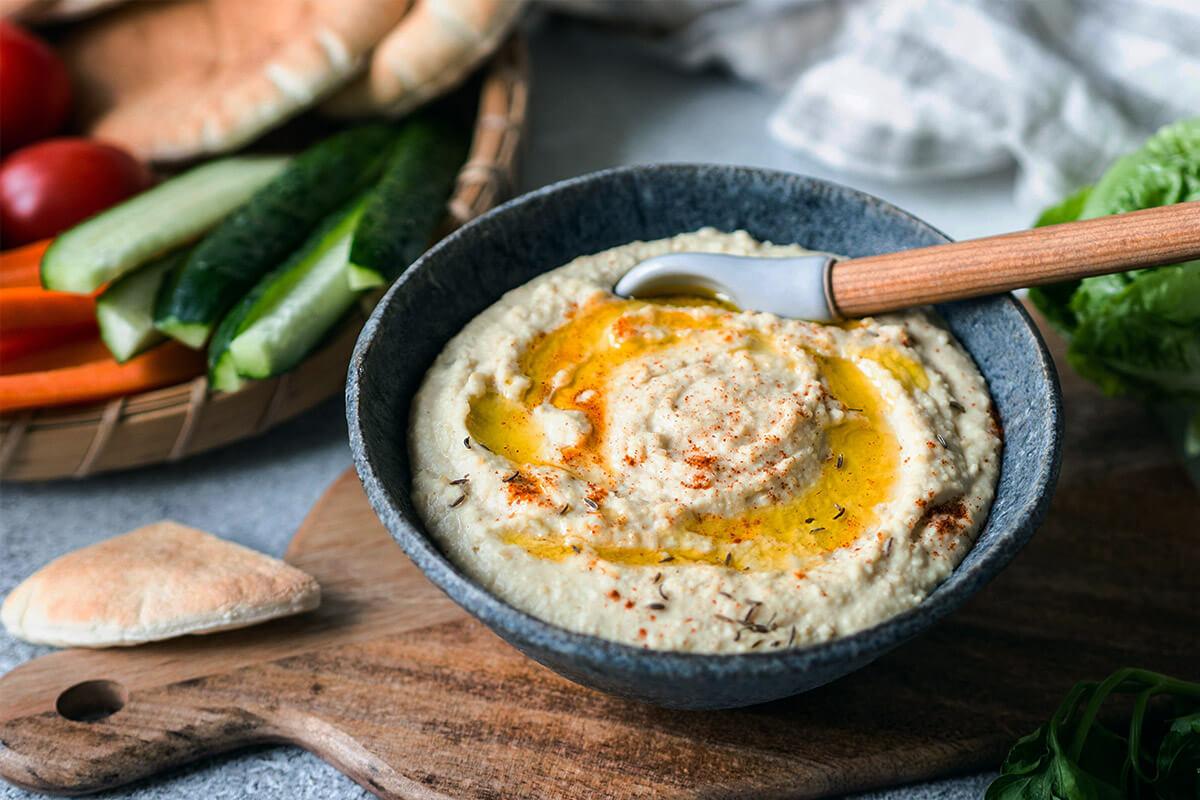 Hummus con zanahoria