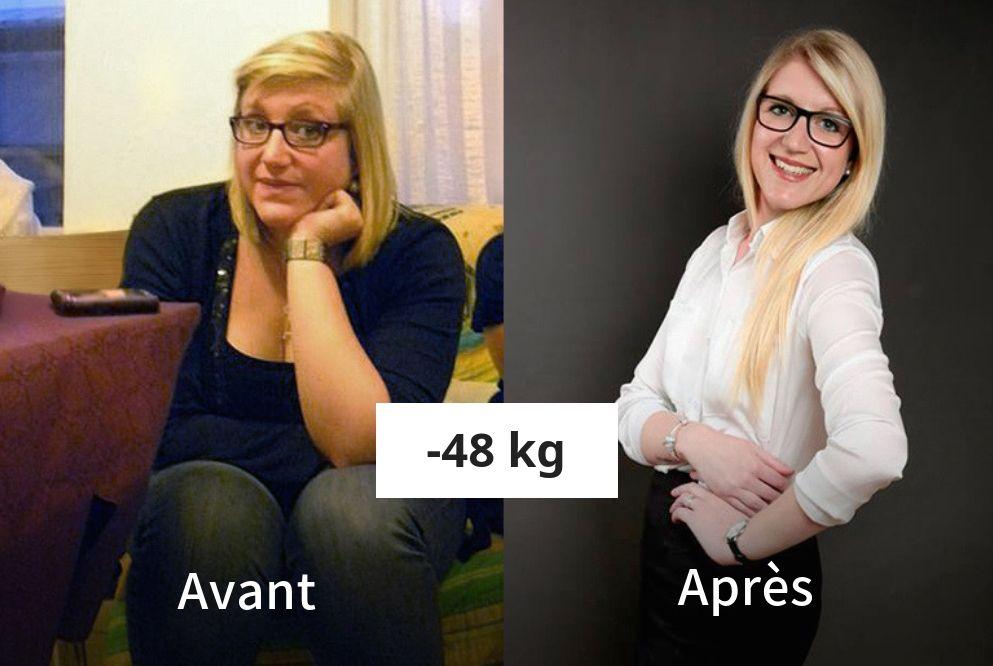 Audrey a perdu 48 kg