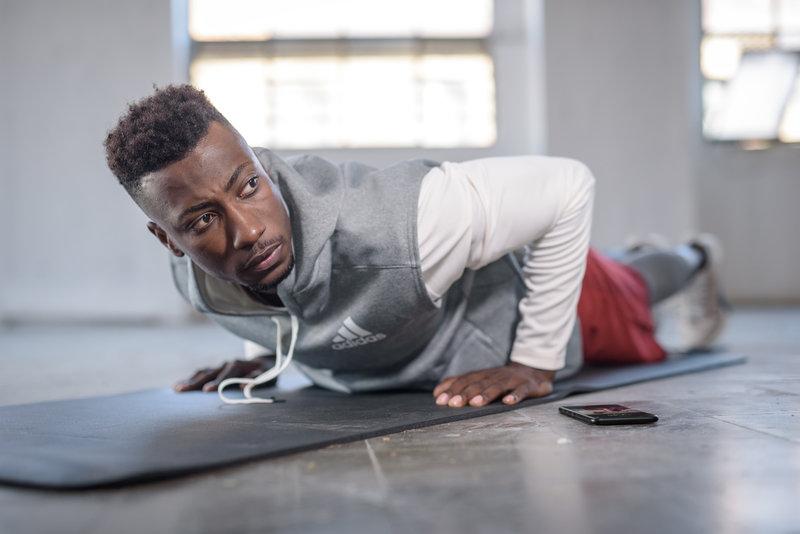 A man doing push ups