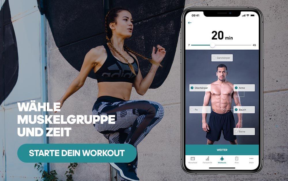 Workout für zuhause: Workout selbst zusammenstellen mit dem Workout Creator in der adidas Training App