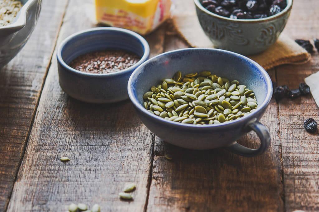 Aliments riches en fer comme les graines de potiron