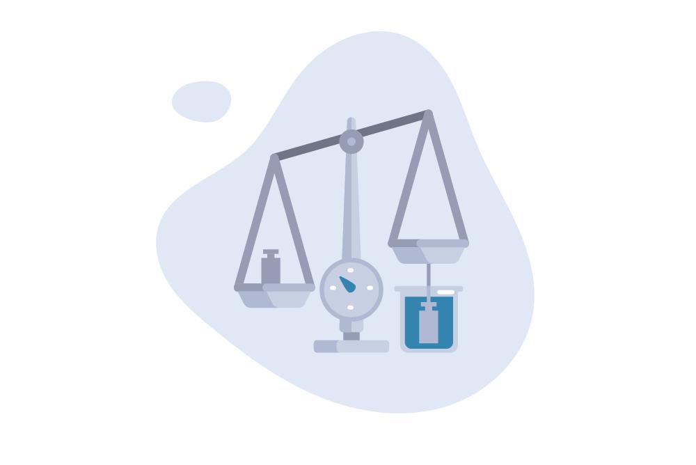 Bei der hydrostatischen Wägung wird dein Gewicht außerhalb und im Wasser gemessen und verglichen.