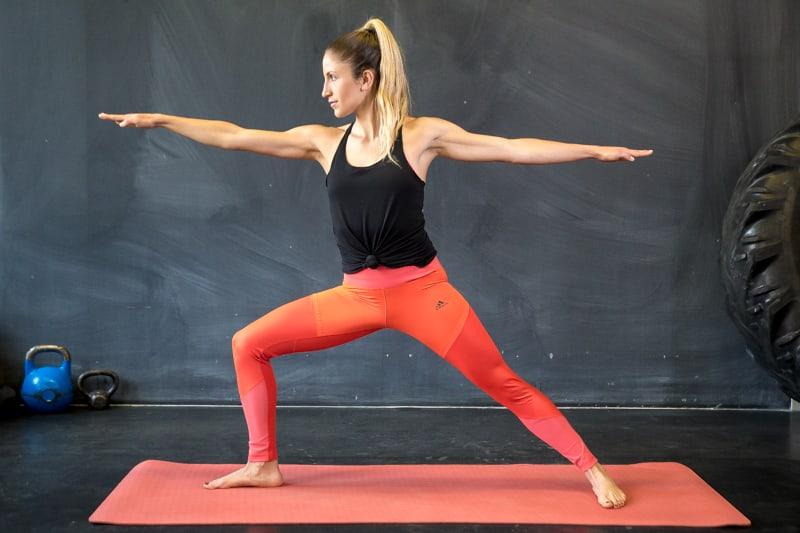 warrior yoga übung