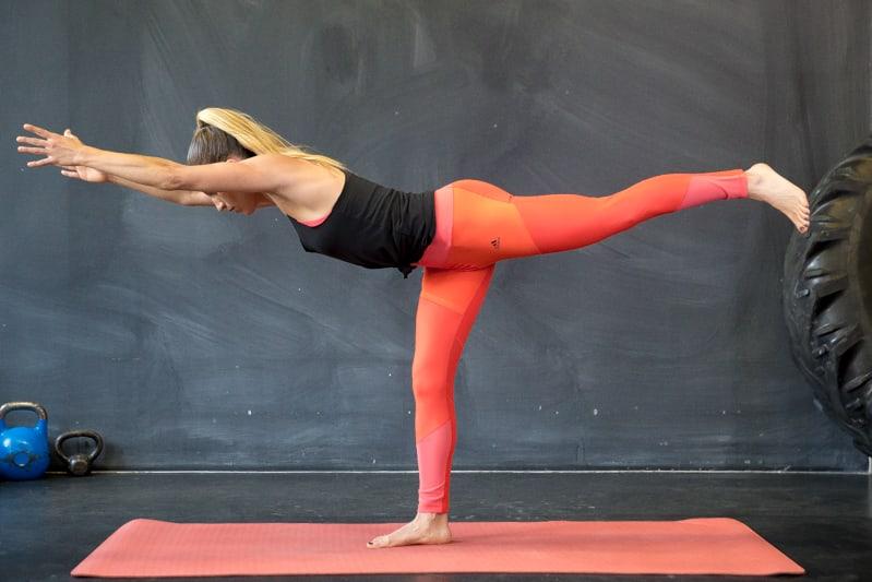 warrior 3 yoga übung