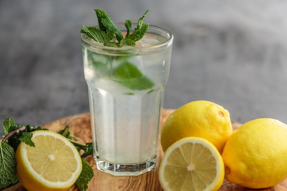 Lemon water, because hydration is important for staying awake and alert