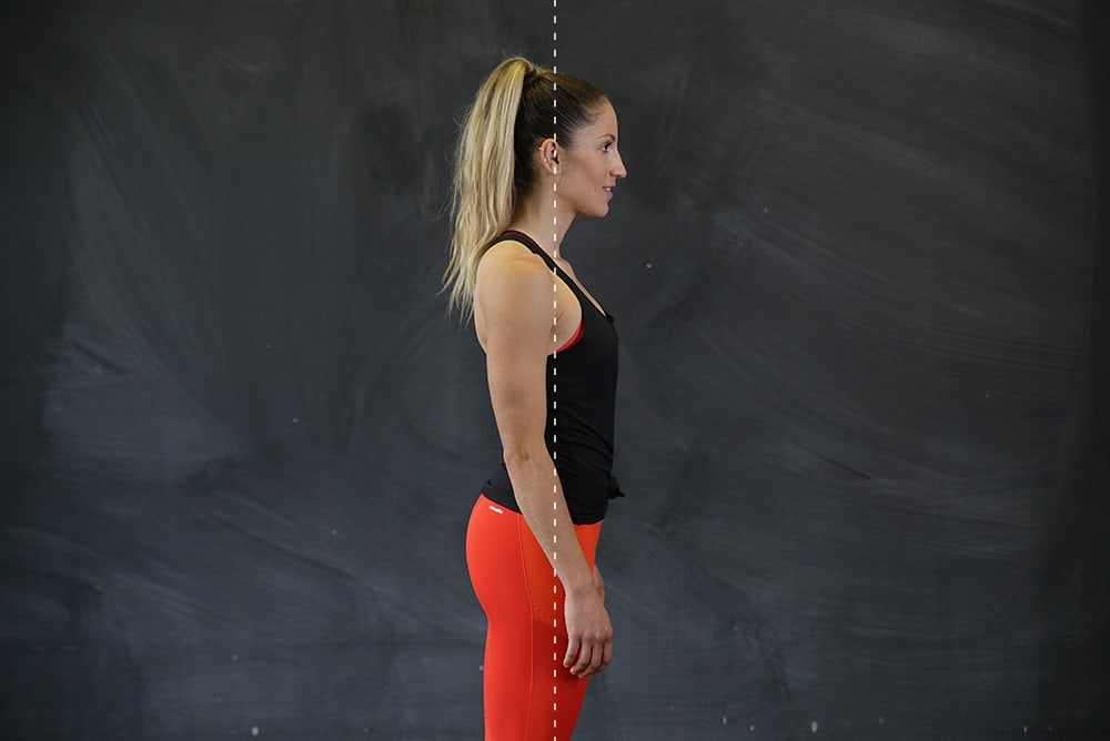 Postura correcta de pie