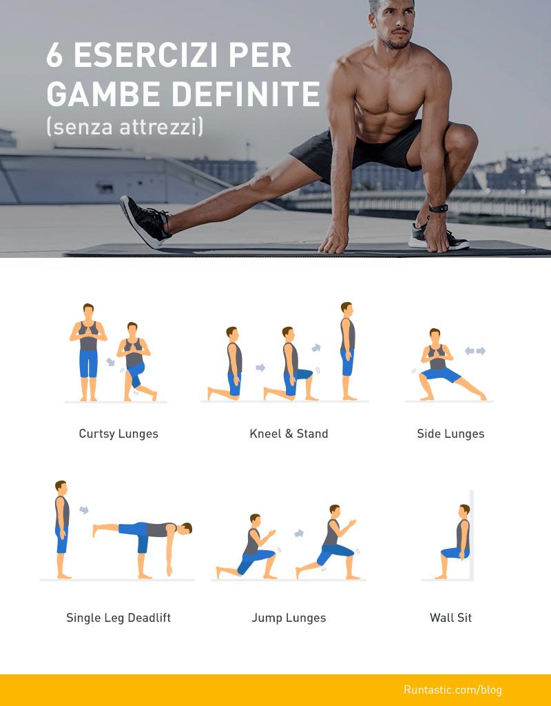 6 Esercizi Per Le Gambe Senza Attrezzi