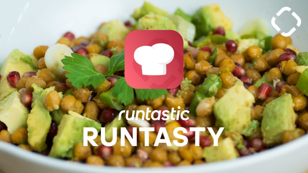 Chickpea Avocado Salad with Pomegranate