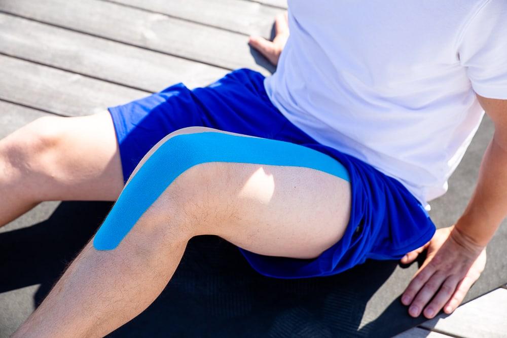Taping jumper's knee