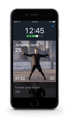 Screenshot outdoor workouts