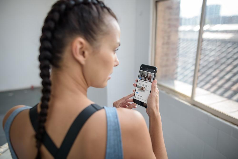 Allenamento con l'app