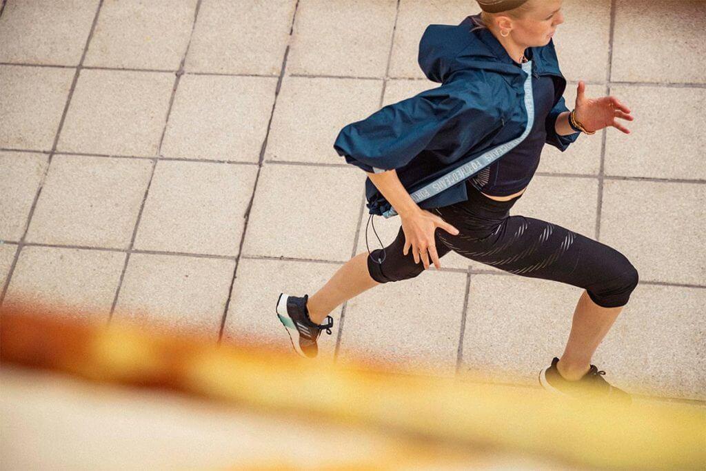 woman running outdoors