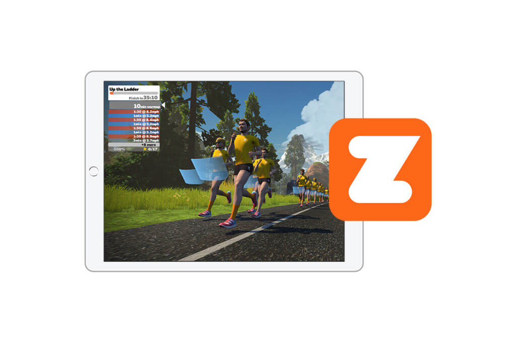 Zwift can be connected with the adidas Running app