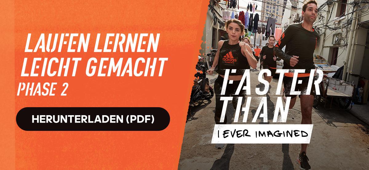 Kostenloser adidas Runtastic Lauftrainingsplan: Laufen lernen leicht gemacht