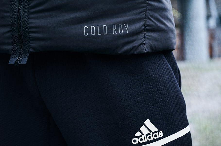 Nahaufnahme von adidas cold.rdy Artikeln