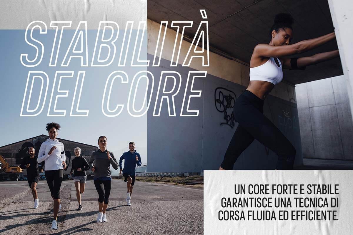 Stabilità del core nella corsa